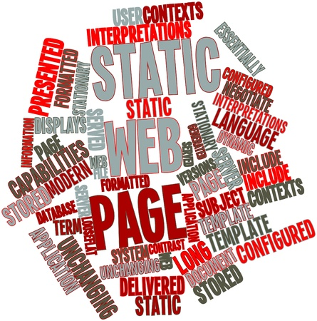 Abstract word cloud for Static web page with related tags and terms Stock Photo - 16617658