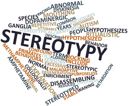 Abstract word cloud for Stereotypy with related tags and terms Stok Fotoğraf - 16617535