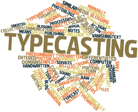 means to an end: Abstract word cloud for Typecasting with related tags and terms