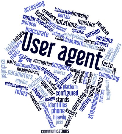 Abstract word cloud for User agent with related tags and terms Stock Photo - 16617641