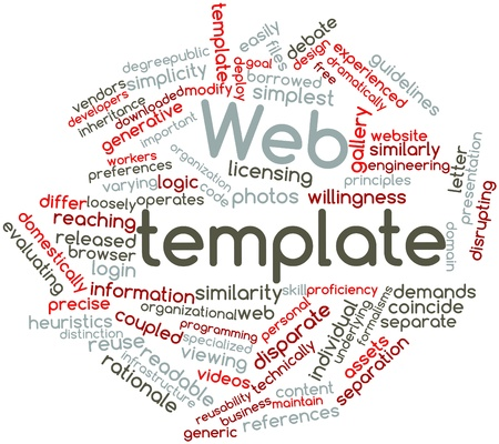 heuristics: Abstract word cloud for Web template with related tags and terms Stock Photo