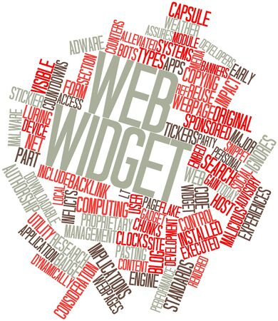 implications: Abstract word cloud for Web widget with related tags and terms
