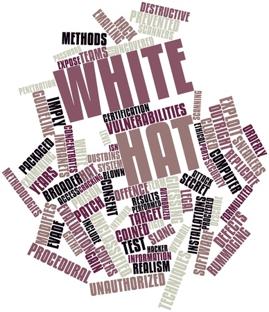 Abstract word cloud for White hat with related tags and terms