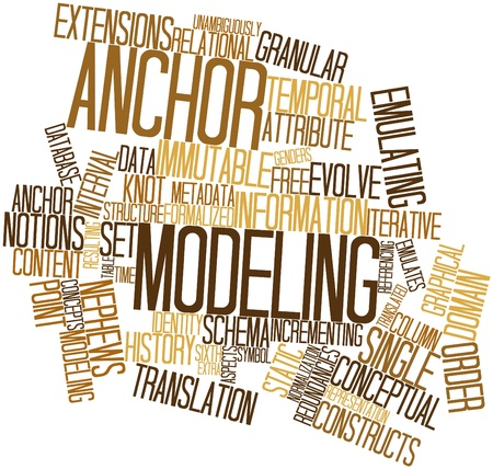Abstract word cloud for Anchor Modeling with related tags and terms Stock Photo - 16629246