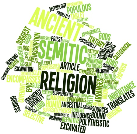 monotheism: Abstract word cloud for Ancient Semitic religion with related tags and terms