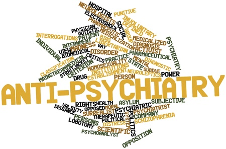 humanistic: Abstract word cloud for Anti-psychiatry with related tags and terms Stock Photo
