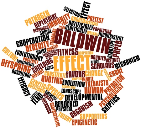 admitted: Abstract word cloud for Baldwin effect with related tags and terms Stock Photo