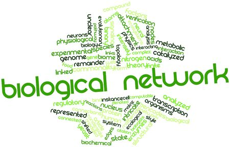 Abstract word cloud for Biological network with related tags and terms photo