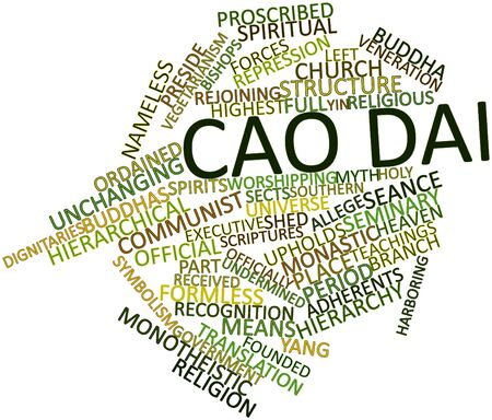 Abstract word cloud for Cao Dai with related tags and terms photo