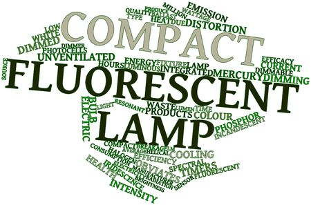 Abstract word cloud for Compact fluorescent lamp with related tags and terms Stock Photo