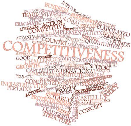 competitividad: Nube palabra abstracta para la Competitividad con las etiquetas y términos relacionados