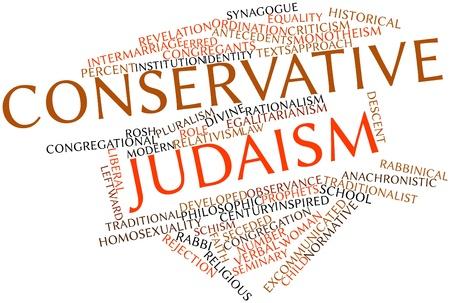 erhaltend: Abstrakte Wortwolke f�r konservative Judentum verwandte Tags und Begriffe Lizenzfreie Bilder