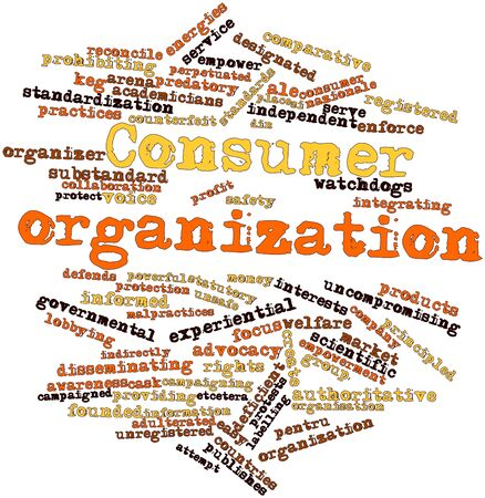 indirectly: Abstract word cloud for Consumer organization with related tags and terms