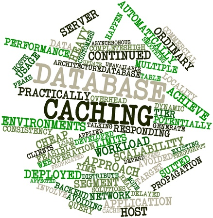 Abstract word cloud for Database caching with related tags and terms Stock Photo - 16629306