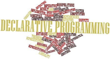Abstract word cloud for Declarative programming with related tags and terms Stock Photo - 16628014