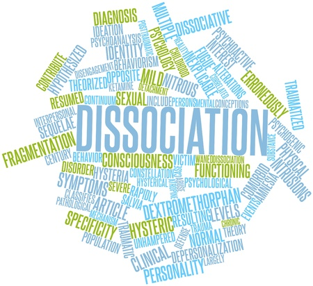 Abstract word cloud for Dissociation with related tags and terms