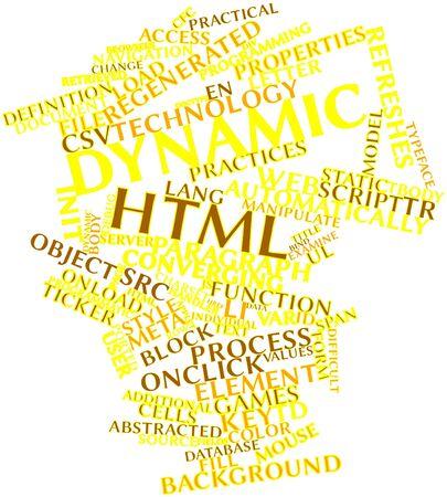 ported: Nube palabra abstracta para el HTML din�mico con etiquetas y t�rminos relacionados