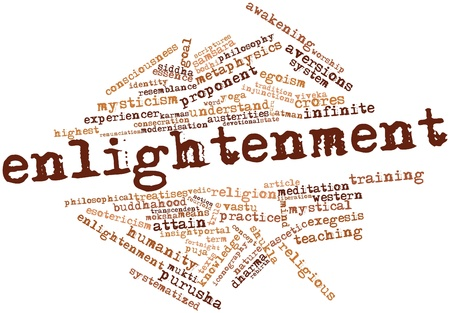 Abstract word cloud for Enlightenment with related tags and terms Stock Photo - 16629004