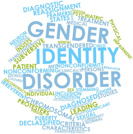 subversive: Abstract word cloud for Gender identity disorder with related tags and terms