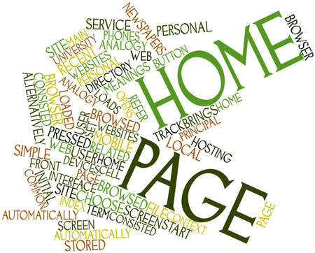 Abstract word cloud for Home page with related tags and terms
