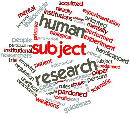Abstract word cloud for Human subject research with related tags and terms