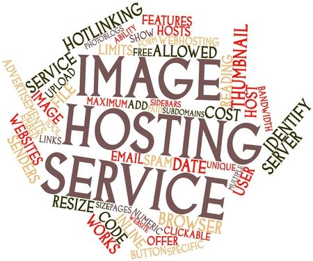 enabled: Abstract word cloud for Image hosting service with related tags and terms