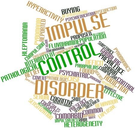 Abstract word cloud for Impulse control disorder with related tags and terms