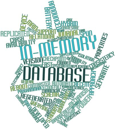 Abstract word cloud for In-memory database with related tags and terms Stock Photo - 16629265