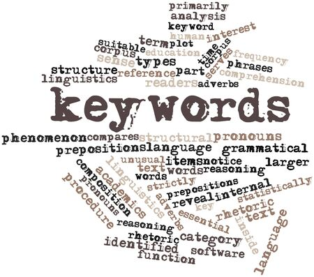 grammatical: Abstract word cloud for Keywords with related tags and terms