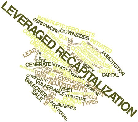 refinancing: Abstract word cloud for Leveraged recapitalization with related tags and terms