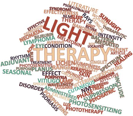 depressive: Abstract word cloud for Light therapy with related tags and terms