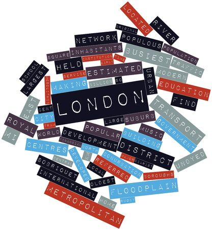 Abstract word cloud for London with related tags and terms Stock Photo - 16627996