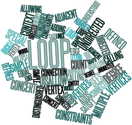 Abstract word cloud for Loop with related tags and terms Stock Photo - 16629669