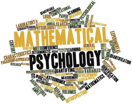 Abstract word cloud for Mathematical psychology with related tags and terms Stock Photo - 16629056