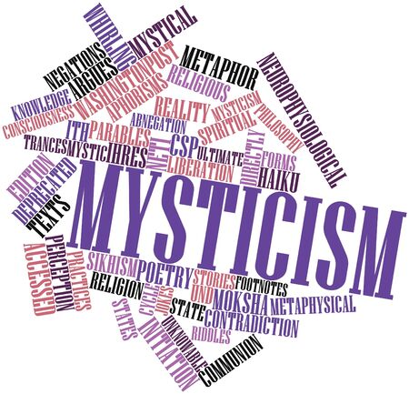 sikhism: Abstract word cloud for Mysticism with related tags and terms Stock Photo