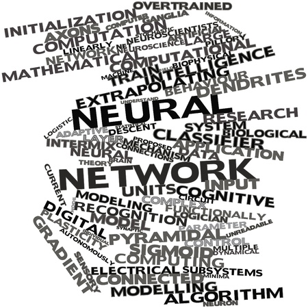 Abstract word cloud for Neural network with related tags and terms Stock Photo - 16629196