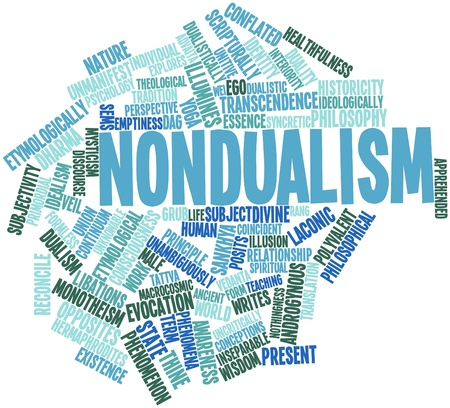 Abstract word cloud for Nondualism with related tags and terms Stock Photo - 16629242