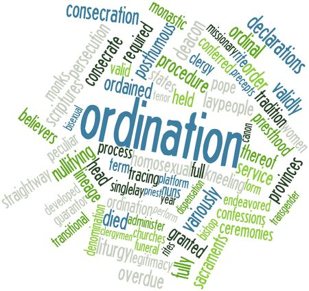 Abstract word cloud for Ordination with related tags and terms