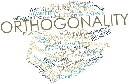 Abstract word cloud for Orthogonality with related tags and terms Stock Photo - 16627981