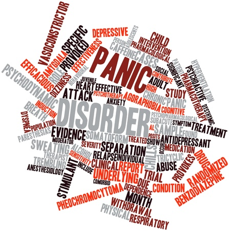 Abstract word cloud for Panic disorder with related tags and terms Stock Photo - 16629312