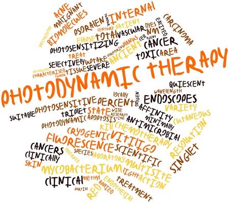 apoptosis: Nube palabra abstracta para la terapia fotodin�mica con etiquetas y t�rminos relacionados