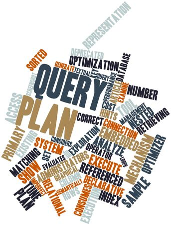 nested: Abstract word cloud for Query plan with related tags and terms