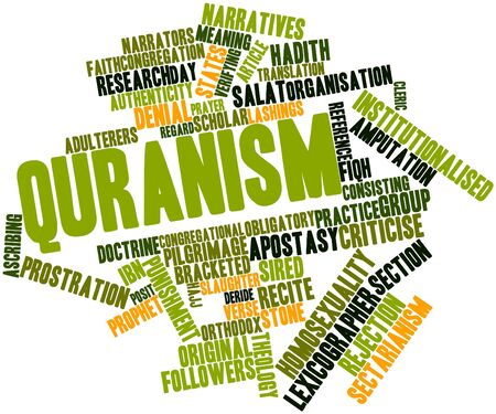 Abstract word cloud for Quranism with related tags and terms Stock Photo - 16629052