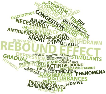 Abstract word cloud for Rebound effect with related tags and terms Stock Photo - 16629026