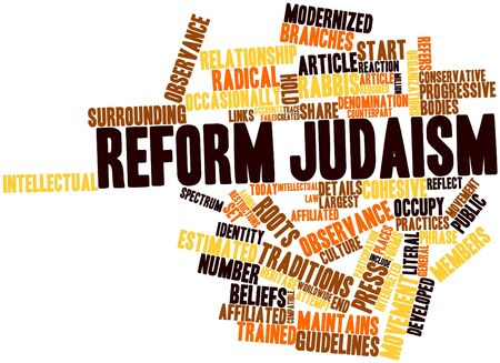 Abstract word cloud for Reform Judaism with related tags and terms 版權商用圖片