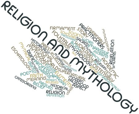 Abstract word cloud for Religion and mythology with related tags and terms Stock Photo - 16628009