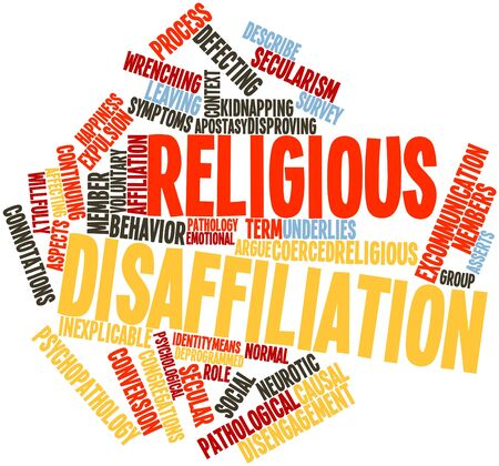 Abstract word cloud for Religious disaffiliation with related tags and terms