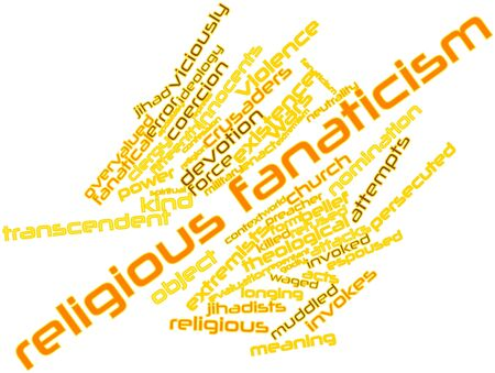 observers: Abstract word cloud for Religious fanaticism with related tags and terms