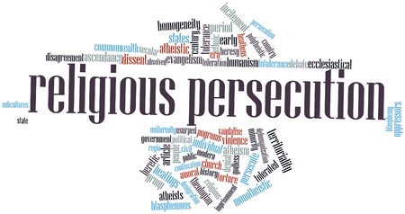 homogeneity: Abstract word cloud for Religious persecution with related tags and terms