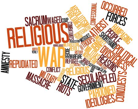absolutism: Abstract word cloud for Religious war with related tags and terms